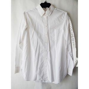 Uniqlo White Cotton Button Down Shirt
